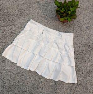 Lululemon White Pace Setter Skirt Shorts Size 2